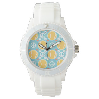 Peace Love Tennis Wrist Watch