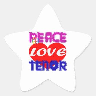 Peace Love Tenor Sticker