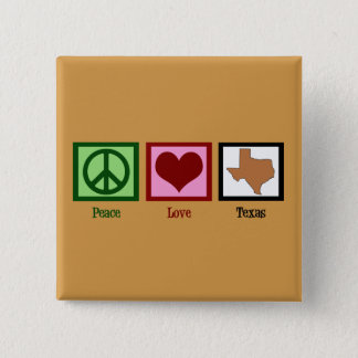 Peace Love Texas 15 Cm Square Badge