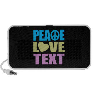 Peace Love Text Mp3 Speakers