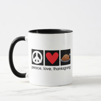 Peace, Love, Thanksgiving Ringer Mug