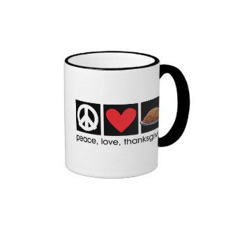 Peace, Love, Thanksgiving Ringer Mug