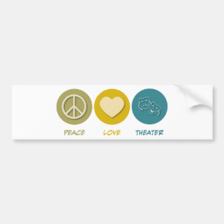 Peace Love Theater Bumper Sticker