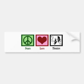 Peace Love Theatre Bumper Sticker