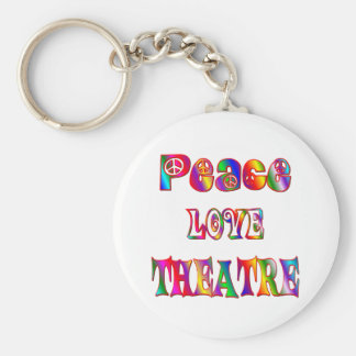 Peace Love Theatre Key Ring