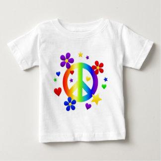 PEACE LOVE TIE DYE HIPPIE SYMBOL BABY T-Shirt