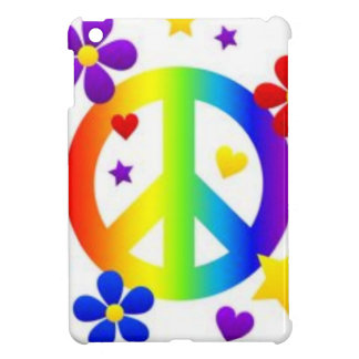 PEACE LOVE TIE DYE HIPPIE SYMBOL CASE FOR THE iPad MINI