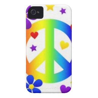 PEACE LOVE TIE DYE HIPPIE SYMBOL iPhone 4 CASES