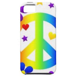 PEACE LOVE TIE DYE HIPPIE SYMBOL iPhone 5 CASE