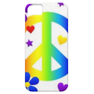 PEACE LOVE TIE DYE HIPPIE SYMBOL iPhone 5 COVERS