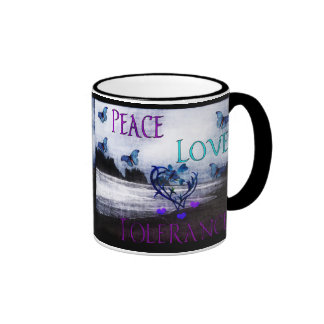 Peace Love Tolerance Coffee Mug