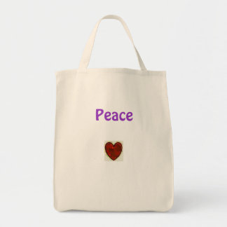 Peace & Love Canvas Bag