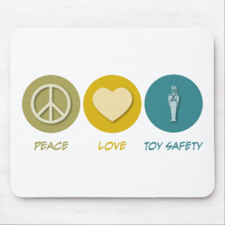 Peace Love Toy Safety Mouse Mats