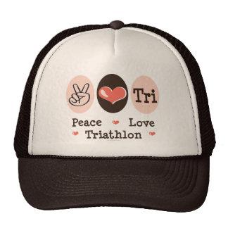 Peace Love Tri Hat