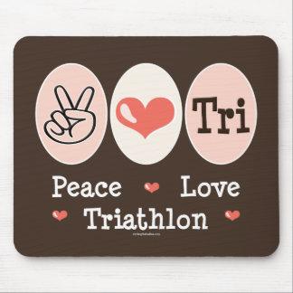 Peace Love Tri Mousepad