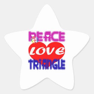 Peace Love Triangle Stickers
