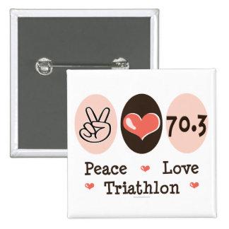 Peace Love Triathlon Button