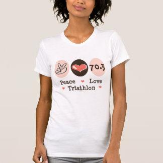 Peace Love Triathlon Distressed Tee