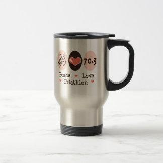 Peace Love Triathlon Travel Mug