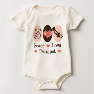 Peace Love Trumpet Baby Bodysuit One Piece
