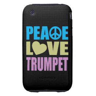 Peace Love Trumpet Tough iPhone 3 Case