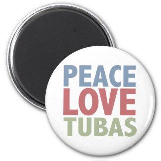 Peace Love Tubas 6 Cm Round Magnet
