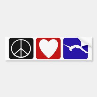 Peace Love Tumble Bumper Sticker