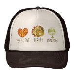 Peace Love Turkey Menorah Mesh Hats
