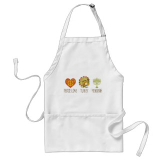 Peace Love Turkey Menorah Standard Apron