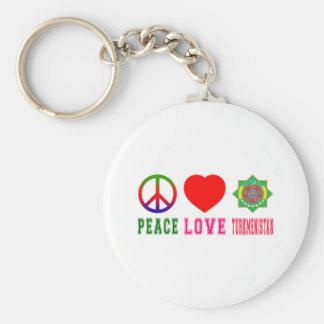 Peace Love Turkmenistan Keychains