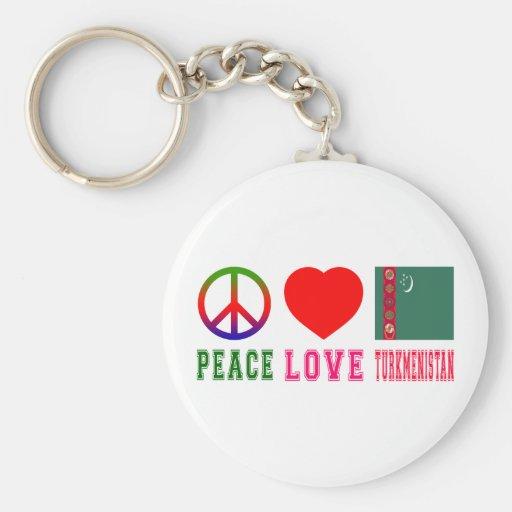 Peace Love Turkmenistan Key Chain