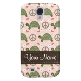Peace Love Turtles  Samsung Galaxy S4 Cover