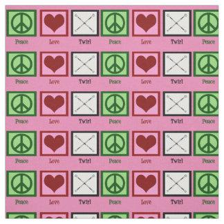 Peace Love Twirl Fabric