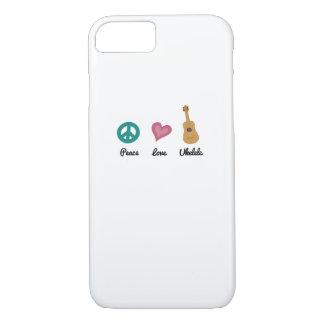 Peace Love Ukelele  Uke Music Lover Funny Gift iPhone 8/7 Case