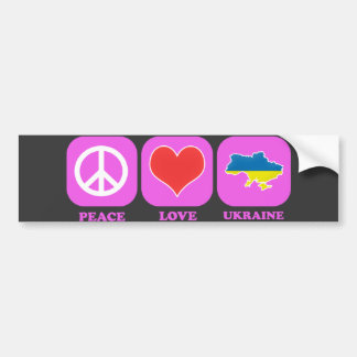 Peace Love Ukraine Bumper Sticker