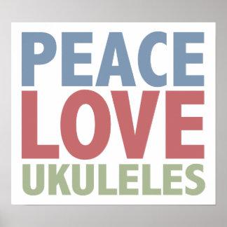 Peace Love Ukuleles Print