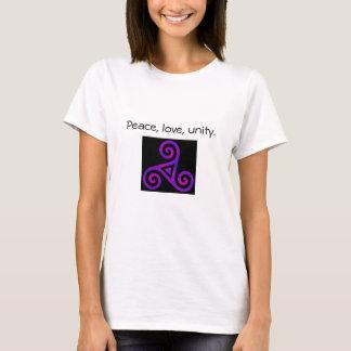 Peace, Love, & Unity Triskelion T-Shirt