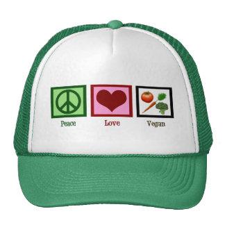 Peace Love Vegan Cap