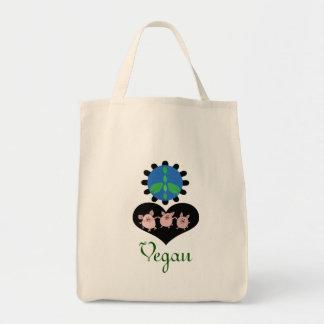 Peace Love Vegan Grocery bag