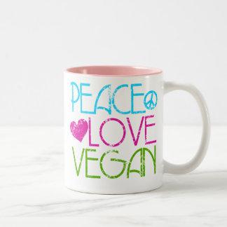 Peace Love Vegan Mugs