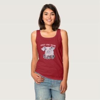 Peace Love Vegan Pig Tank Top