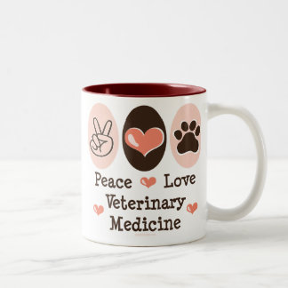 Peace Love Veterinary Medicine Mug