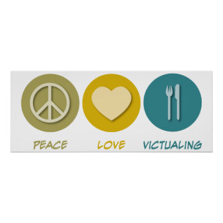 Peace Love Victualing Print