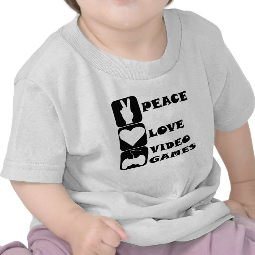 Peace Love Video Games Tees