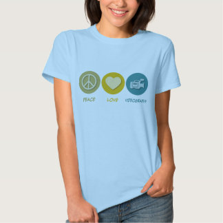 Peace Love Videography Tee Shirts