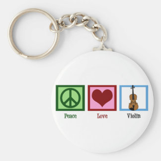 Peace Love Violin Key Ring
