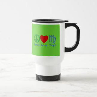 Peace Love Virgo Gifts and Products Stainless Steel Travel Mug