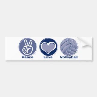 Peace Love Volleyball Bumper Sticker