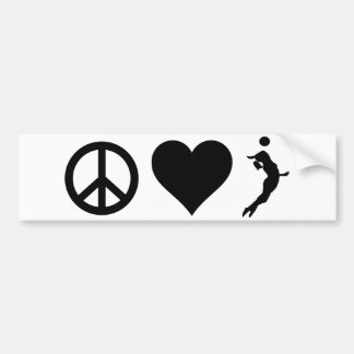 Peace Love Volleyball (Female) Bumper Sticker
