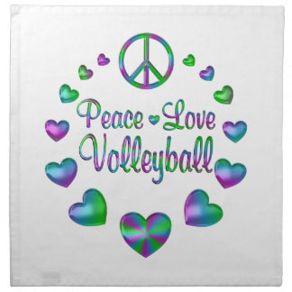 Peace Love Volleyball Napkin